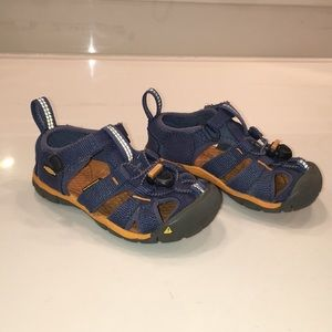 Keen Seacamp Ensign Blue/Apricot Toddler Sandals